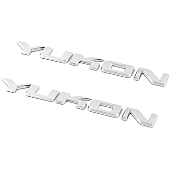 OEM NEW Rear Liftgate and Fender Yukon Emblem Set of Three 07-16 GMC 15825690