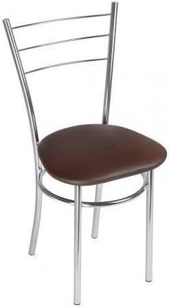 Silla de Cocina Silla de Comedor Elegante - Drako Trapecio - Color: Wenge - Set de 2 Sillas: Amazon.es: Hogar