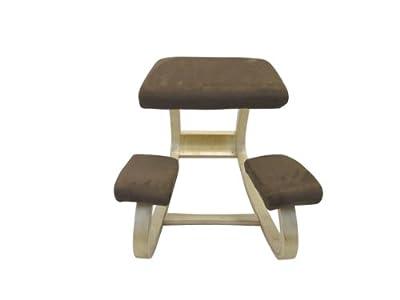 Sierra Comfort SC-205L Ergonomic Kneeling Chair (Brown Fabric / Light Wood) by SierraComfort