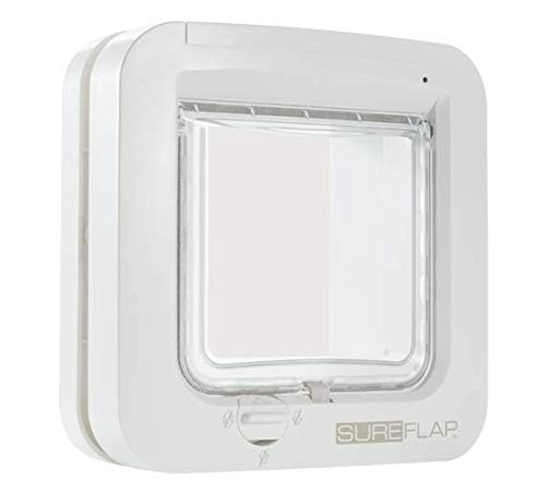 SureFlap - Sure Petcare Microchip Cat Flap, White, Scans Pet