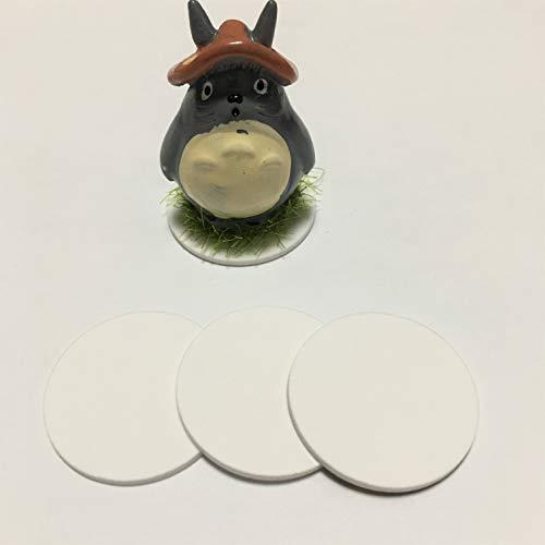 - 20pcs White Acrylic Round Discs, Plexiglass Laser Cut Round Circle 1/8'', Mini Acrylic Display Discs (White, Dia 3.5'')