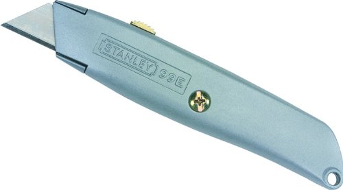 Stanley Classic 99 Retractable Utility Knife (Steel Grey) with 3 Heavy-Duty Blades