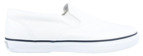 Boat Sneaker (Sperry Top-Sider Men's Striper Slip-On Boat Shoe,White,9 W US)