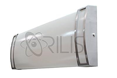Orilis 4 Ft 4-Light 96 Watt Luxury Brushed Nickel Flush Mount Hardwired Ceiling Fixture - (4) 24W LED T8 Tubes Included - 6500K - 12000 Lumens