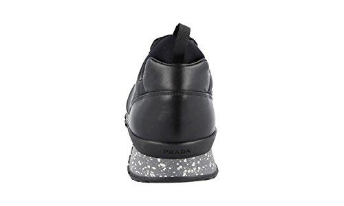 Prada Mens 4e3052 Lti F0002 Läder Sneaker