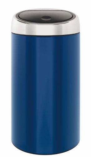 Touch Bin 45 Liter.Brabantia 424489 45l Touch Bin Deluxe 45 Liter Cobalt Blue Amazon