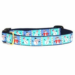 Up Country Snowman Dog Collar Medium