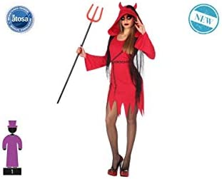 Atosa-55435 Atosa-55435-Disfraz Demonia para Mujer Adulto-Talla ...