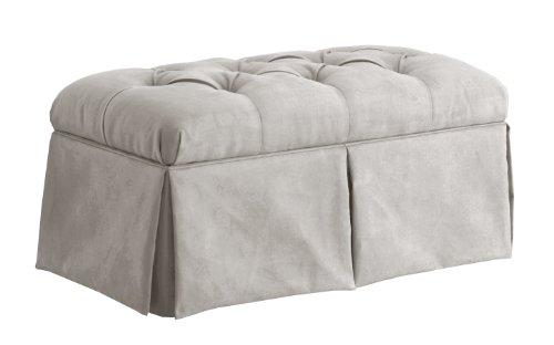 Skyline Furniture Upholstered Bench - Skyline Furniture Velvet Skirted Storage Bench, Light Gray