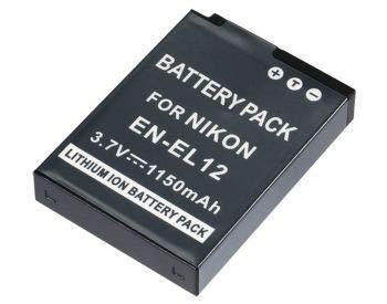 Bateria EN-EL12 1150mAh para câmera digital e filmadora Nikon Coolpix S70, S610, S620, S630, S640, S710, S1000