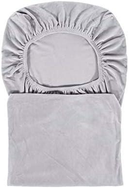 Housse de chaise de salle à manger en velours extensible résistant Spandex Plush Short Chair Covers Solide Grande Salle À Manger Protecteur De