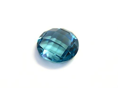 - Tourmaline Paraiba Blue-Green #110/3. Briolette Round 8mm. 2ct. SIAMITE Created Gemstone US@GEMS
