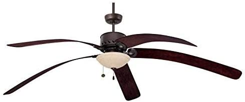 Candelabra Emerson Ceiling Fans LK91SW Ashton Amber Mist Light Fixture for Ceiling Fans