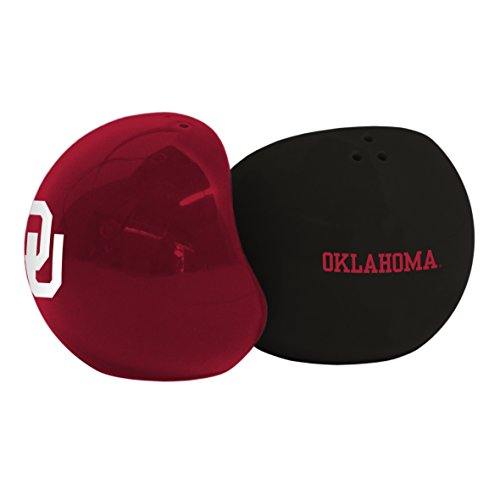 [NCAA Oklahoma Sooners Sculpted Home and Away Salt & Pepper Shakers] (Oklahoma Sooners Salt)