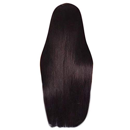 US shipment Clearance Fashion Synthetic Long Black Straight Natural Hair Full Wigs For Women by USLovee3000