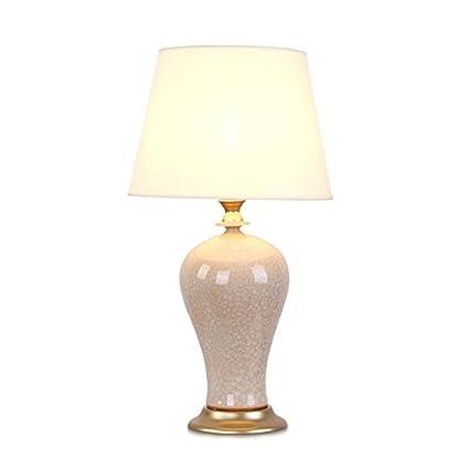 ASL Ceramica Lampada da tavolo bianca, lampada da tavolino da camera ...