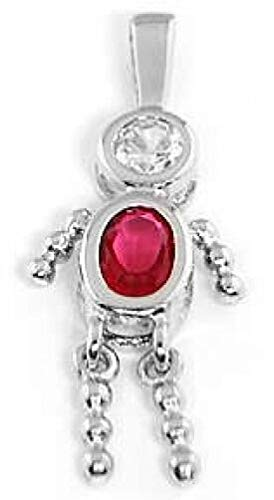 SilverBOY July Birthstone Charm Pendant Charms,Pendant and Bracelet by Easy to be happy