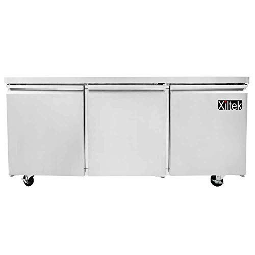- New Xiltek 72″ Three Door Commercial Stainless Steel Undercounter Refrigerator