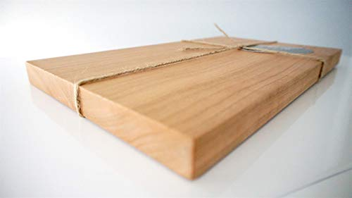 Cherry Solid Wood Cutting Board. Premium. Luxury Style. Handcrafted in Chicago. Butcher Block Style. Handmade in USA. Oiled & Ready for Use! 12