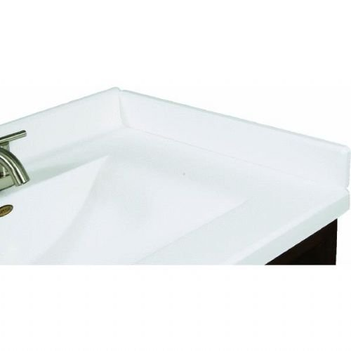 (Imperial VR101SPW Right Hand Side Splash for Bathroom Vanity Top, Solid White Gloss Finish, 19-Inch)