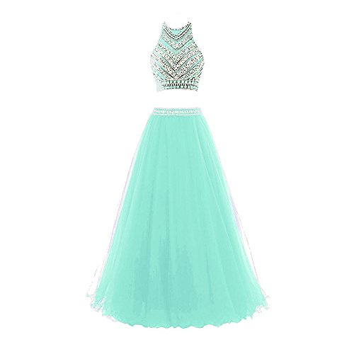 2 Piece Beaded Evening Gown - 4