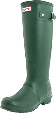 Hunter Original Tall Welly Boot,Green/Green,Womens 5 M/Mens 4 M
