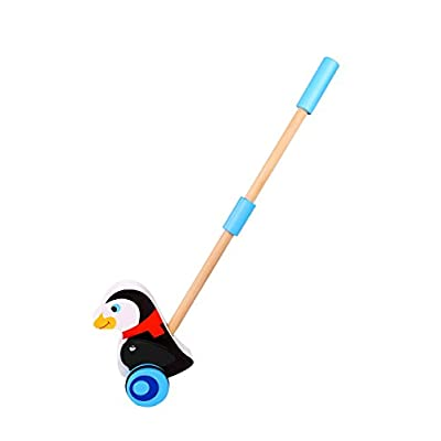 Tooky Toy Penguin Push Along: Toys & Games