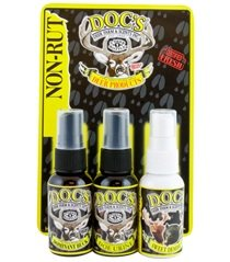 Docs Deer Scent Combo Pack Non Rut Scent (3 Pack), Black, 1.5 oz