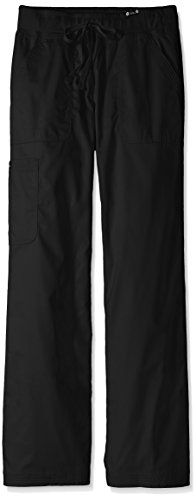 - KOI Women's Tall Morgan Ultra Comfy Yoga-Style Cargo Scrub Pants, Black, Medium/Tall