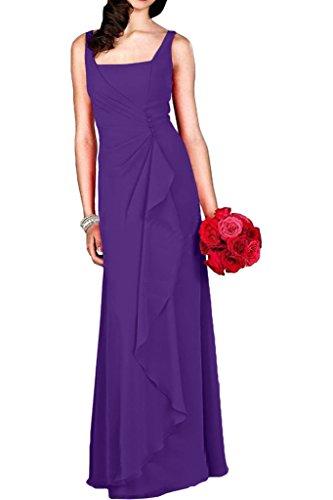 Partykleider Traeger Chiffon Braut Cocktailkleider Abendkleider Blau La Dunkel mia Bodenlang Lila mit Damen SwOn8g