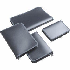FolderSys Rei/ßverschlusstasche B5 PP antrazit transluzent Zip grau