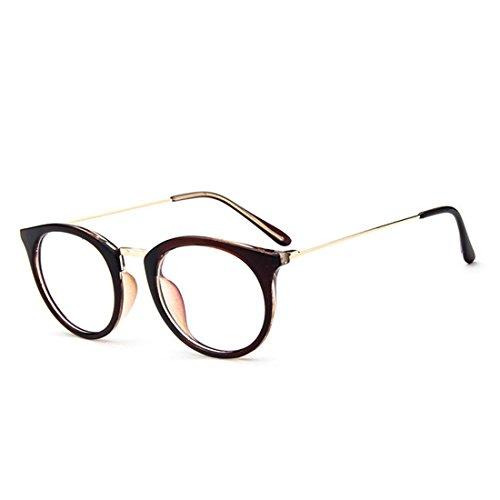 D.King Womens Fashion Oversized Glasses Frames Clear Lens Round Circle Eyeglasses - Shell Tortoise Glasses Circle