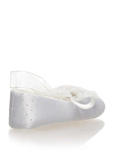 Sevva, bebé zapatos para niña, De niña zapatitos para bautizo, Niñas pequeñas zapatos, bebé 0 - 4 Blanco