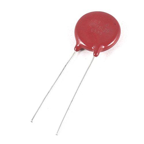 0.5' Disc Color - Aexit Radial Lead Voltage Dependent Resistor Varistors 275V V275LA20AP Red