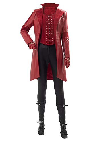 Womens Red Witch Cosplay Costume Halloween Scarlet
