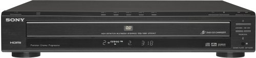 - Sony DVP-NC85H/B HDMI/CD Progressive Scan 5-Disc DVD Changer, Black