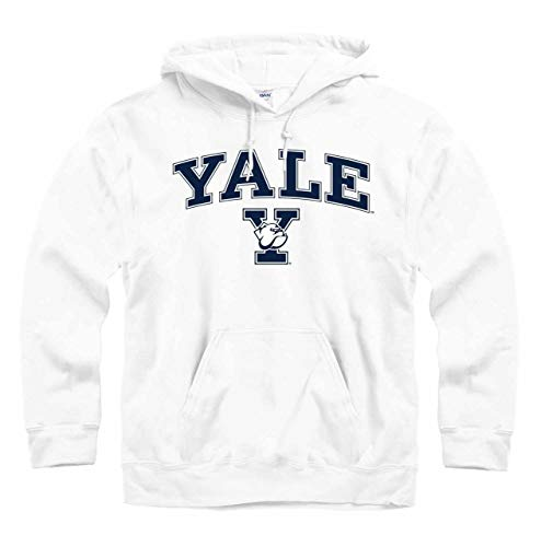- Campus Colors Yale Bulldogs Arch & Logo Gameday Hooded Sweatshirt - White, XX-Large