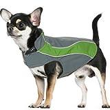 Kakadu Pet Explorer Nylon Fleece Reflective Dog Coat, 10″, Grass (Green), My Pet Supplies