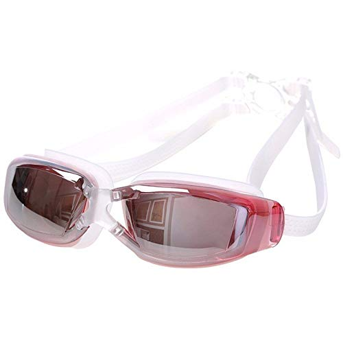 Swim Goggles Adult - Womens Swim Goggles - Goggles for Men - Professional Anti-Fog Protection Adjustable Swimming Goggles Men Women Waterproof Glasses Adult Eyewear -1PC - Pink