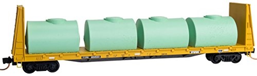 Micro-Trains MTL N-Scale 61ft Bulkhead Flat Car/Tanks Trailer Train/TTX #804533