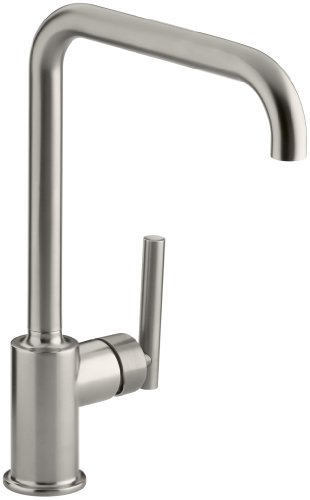 KOHLER K-7507-VS Purist Primary Swing Spout Kitchen Faucet Without Spray, Vibrant Stainless