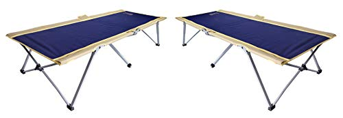 Byer Maine Cot - BYER OF MAINE Easy Cot, Ideal for Camping and Hunting, Indoor Guest Bed, Camp Cot, Two Pack/Twin Size