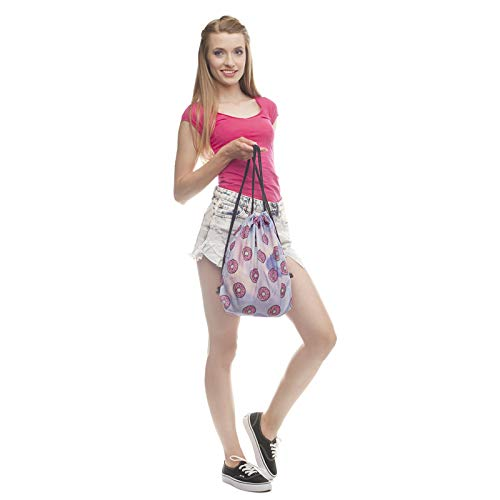 Amazon.com: Fashion Women Holo Donuts Drawstring Backpack 3D Printing Travel Softback Women Mochila Drawstring Bags skd27124: Beauty