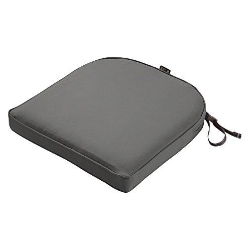 Classic Accessories Montlake Cont. Seat Cushion Foam & Slip Cover, Light Charcoal, 18x18x2