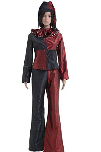 GOTEDDY Women Harley Red Black Outfit Cosplay Costume