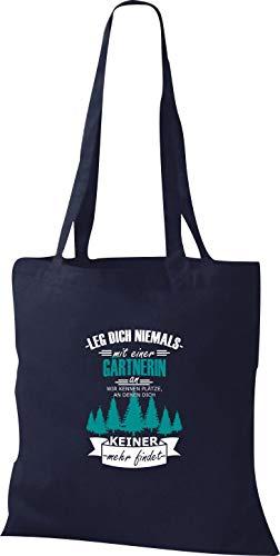 Tela Gärtnerin Un Azul De Nicht Shirtinstyle Mit Kennen Wir Dich Marino Leg Uno Bolso qESxCCwT