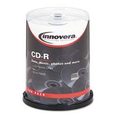 (6 Pack Value Bundle) IVR77815 CD-R Discs, Hub Printable, 700MB/80min, 52x, Spindle, Matte White, 100/Pack