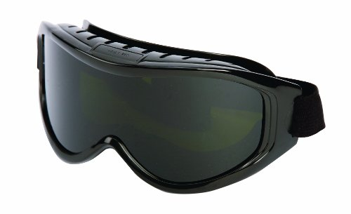 Sellstrom S80211 Odyssey II Series, High Temperature Cutting / Grinding Safety Goggle, Shade 5 UV/IR Protective Lens, Black Indirect Vent Goggle Body (Packaged in a Point of Sale Clam) ()