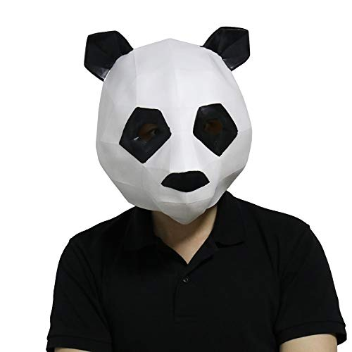 LarpGears Novelty Halloween Costume Party Animal 3D Panda Mask for ()