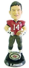 Forever Collectibles NFL Tampa Bay Buccaneers Mens Tampa Bay Buccaneers Brad Johnson Super Bowl 37 Ring Bobblehead, Team Colors One Size